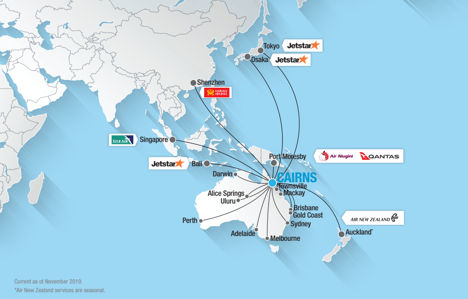 sydney airport route map Domestic International Destinations Cairns Airport sydney airport route map