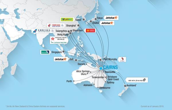 Domestic International Destinations Cairns Airport