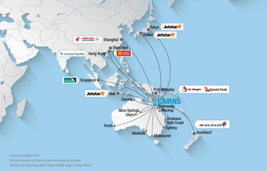 New Zealand Route Map.Route Map Cairns Airport